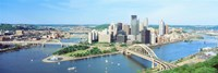 """Daytime Skyline With The Allegheny, Pittsburgh, Pennsylvania, USA by Panoramic Images - 27"""" x 9"""""""