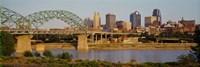 "Bridge over a river, Kansas city, Missouri, USA by Panoramic Images - 27"" x 9"""