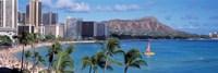 Waikiki Beach, Honolulu, Hawaii, USA Fine Art Print