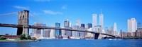 New York Skyline with Twin Towers