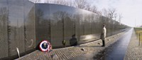 """Side profile of a person standing in front of a war memorial, Vietnam Veterans Memorial, Washington DC, USA by Panoramic Images - 27"""" x 9"""""""
