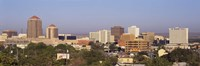 """Buildings in a city, Albuquerque, New Mexico, USA by Panoramic Images - 27"""" x 9"""""""