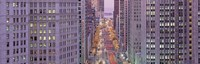 "Aerial View Of An Urban Street, Michigan Avenue, Chicago, Illinois, USA by Panoramic Images - 27"" x 9"""