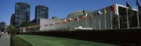 """Government building in a city, United Nations Building, Central Park, Manhattan, New York City, New York State, USA by Panoramic Images - 27"""" x 9"""" - $28.99"""