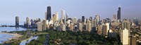 "Skyline with Hancock Building and Sears Tower, Chicago, Illinois by Panoramic Images - 27"" x 9"" - $28.99"