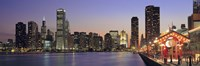 """View Of The Navy Pier And Skyline, Chicago, Illinois, USA by Panoramic Images - 27"""" x 9"""""""