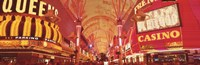 """Fremont St Experience, Las Vegas, NV by Panoramic Images - 27"""" x 9"""""""