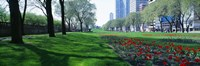 """Public Gardens, Loop, Cityscape, Grant Park, Chicago, Illinois, USA by Panoramic Images - 27"""" x 9"""""""