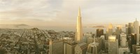 """USA, California, San Francisco, Skyline with Transamerica Building by Panoramic Images - 27"""" x 10"""""""