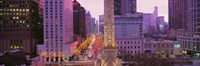 "Twilight, Downtown, City Scene, Loop, Chicago, Illinois, USA by Panoramic Images - 27"" x 9"" - $28.99"