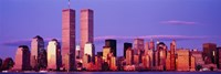 Manhattan skyline with the Twin Towers, New York City, New York State, USA Fine Art Print