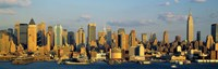 "Hudson River, City Skyline, NYC, New York City, New York State, USA by Panoramic Images - 27"" x 9"", FulcrumGallery.com brand"