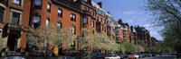 """Buildings in a street, Commonwealth Avenue, Boston, Suffolk County, Massachusetts, USA by Panoramic Images - 27"""" x 9"""", FulcrumGallery.com brand"""