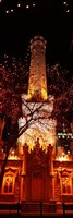 """Night, Old Water Tower, Chicago, Illinois, USA by Panoramic Images - 9"""" x 27"""""""