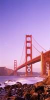 "Golden Gate Bridge (horizontal view) by Panoramic Images - 9"" x 27"""