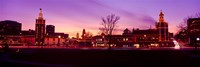 """Buildings in a city, Country Club Plaza, Kansas City, Jackson County, Missouri, USA by Panoramic Images - 27"""" x 9"""""""