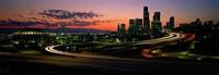 "Sunset Puget Sound & Seattle skyline WA USA by Panoramic Images - 27"" x 9"""