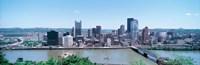 "Monongahela River Skyline, Pittsburgh by Panoramic Images - 27"" x 9"", FulcrumGallery.com brand"