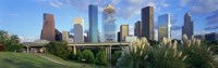 Aerial View of Houston Skyscrapers, Texas Fine Art Print