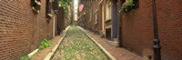 """Street View of Beacon Hill, Boston Massachusetts by Panoramic Images - 27"""" x 9"""""""