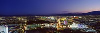 """Cityscape at night, The Strip, Las Vegas, Nevada, USA by Panoramic Images - 27"""" x 9"""""""