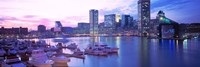 Sunset, Inner Harbor, Baltimore, Maryland, USA Fine Art Print