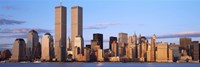 "Skyline with World Trade Center by Panoramic Images - 27"" x 9"" - $28.99"
