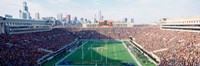 """High angle view of spectators in a stadium, Soldier Field (before 2003 renovations), Chicago, Illinois, USA by Panoramic Images, 2003 - 27"""" x 9"""""""