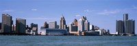 """Detroit Waterfront, Michigan by Panoramic Images - 27"""" x 9"""""""