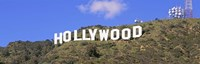 """Low angle view of a Hollywood sign on a hill, City Of Los Angeles, California, USA by Panoramic Images - 27"""" x 9"""""""