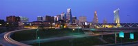 "Kansas City, Missouri at Night by Panoramic Images - 27"" x 9"""