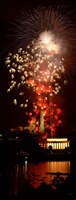 "USA, Washington DC, Fireworks over Lincoln Memorial by Panoramic Images - 10"" x 27"", FulcrumGallery.com brand"
