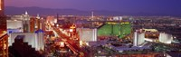 "Las Vegas Lit Up at Dusk by Panoramic Images - 27"" x 9"" - $28.99"