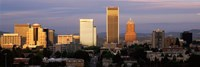 """Cityscape at sunset, Portland, Multnomah County, Oregon, USA by Panoramic Images - 27"""" x 9"""""""