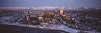 """Anchorage at the base of Chugach Mtns AK USA by Panoramic Images - 27"""" x 9"""""""