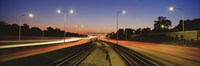 """Traffic Moving In The City, Mass Transit Tracks, Kennedy Expressway, Chicago, Illinois, USA by Panoramic Images - 27"""" x 9"""""""