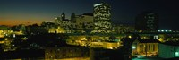 "Newark, New Jersey at Night by Panoramic Images - 27"" x 9"""