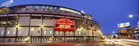 """USA, Illinois, Chicago, Cubs, baseball by Panoramic Images - 27"""" x 9"""""""