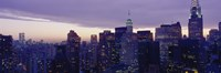 """Buildings In A City, Manhattan, NYC, New York City, New York State, USA by Panoramic Images - 27"""" x 9"""""""