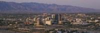 """High angle view of a cityscape, Tucson, Arizona, USA by Panoramic Images - 27"""" x 9"""""""