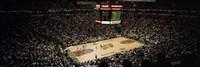 Spectators watching a basketball match, Key Arena, Seattle, King County, Washington State, USA Fine Art Print