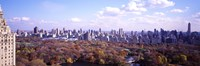 "Aerial View of Central Park by Panoramic Images - 27"" x 9"""