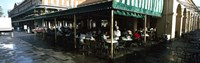 "Tourists at a coffee shop, Cafe Du Monde, Decatur Street, French Quarter, New Orleans, Louisiana, USA by Panoramic Images - 27"" x 9"""