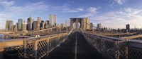 "Pedestrian Walkway Brooklyn Bridge New York NY USA by Panoramic Images - 27"" x 9"" - $28.99"