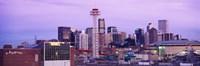"Building lit up at dusk, Denver, Colorado, USA by Panoramic Images - 27"" x 9"", FulcrumGallery.com brand"