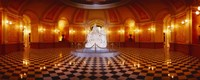 """Statue surrounded by a railing in a building, California State Capitol Building, Sacramento, California, USA by Panoramic Images - 27"""" x 9"""""""