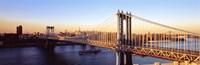 """Manhattan Bridge, NYC, New York City, New York State, USA by Panoramic Images - 27"""" x 9"""""""