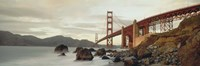 """Low angel view of Golden Gate Bridge by Panoramic Images - 27"""" x 9"""""""