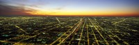 """Evening in Chicago IL by Panoramic Images - 27"""" x 9"""""""