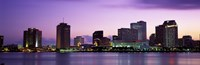 Dusk Skyline, New Orleans, Louisiana, USA Fine Art Print